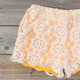 Apricots & Lace Shorts: Alternate View #2