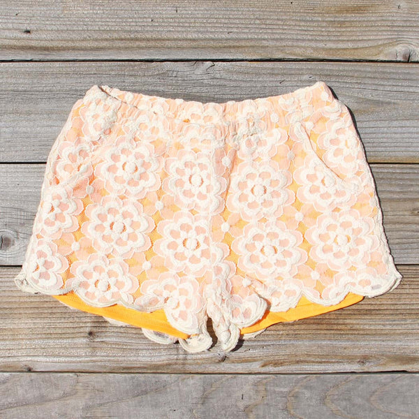 Apricots & Lace Shorts: Featured Product Image