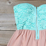 August Glow Dress in Mint: Alternate View #2