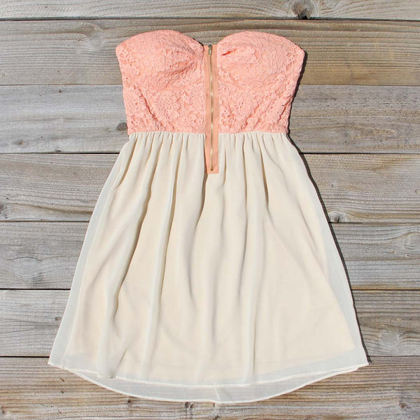 August Glow Dress in Peach: Featured Product Image