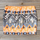 Back Trail Skirt in Orange: Alternate View #1
