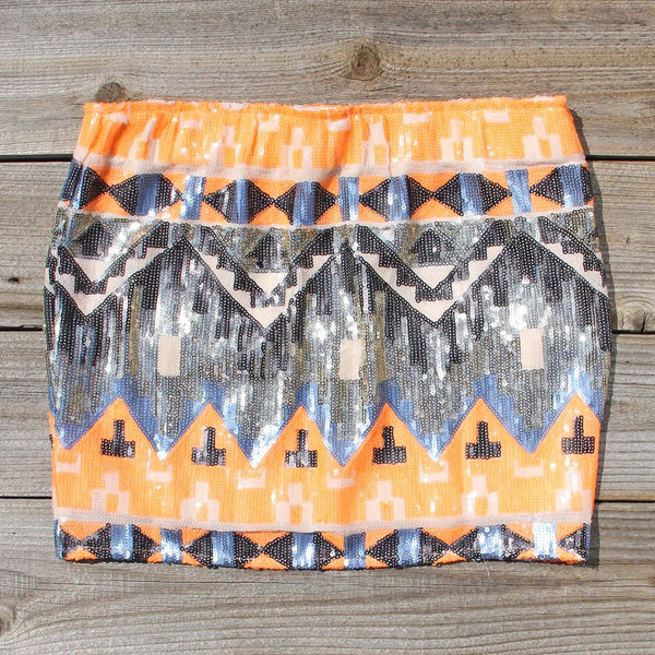 Back Trail Skirt in Orange: Featured Product Image