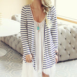 Basic Stripe Cardigan: Alternate View #1