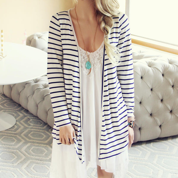 Basic Stripe Cardigan: Featured Product Image