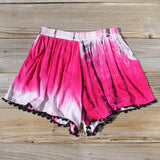 Beach Gypsy Shorts in Pink: Alternate View #1