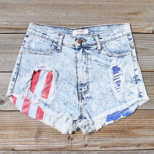 Born Wild Distressed Shorts: Featured Product Image