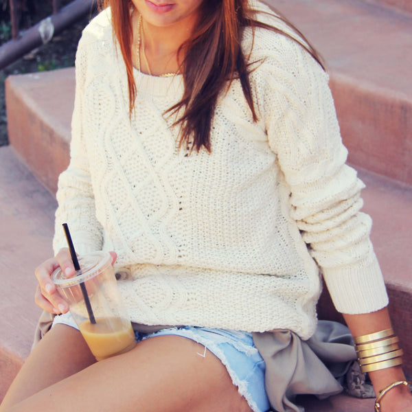 The Cozy Cable Knit Sweater: Featured Product Image