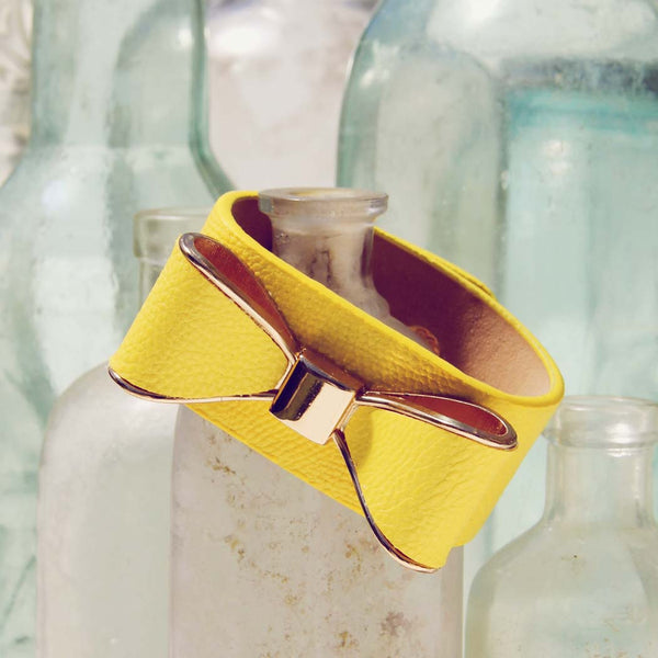 Charmed Bows Bracelet in Yellow: Featured Product Image