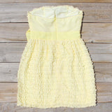 Chiffon Tart Dress in Lemon: Alternate View #4