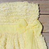 Chiffon Tart Dress in Lemon: Alternate View #2