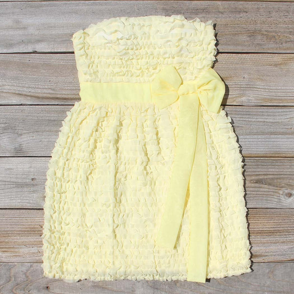 Chiffon Tart Dress in Lemon: Featured Product Image