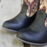 The Cooper Kilim Bootie in Black: Alternate View #2