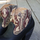 The Cooper Kilim Bootie in Black: Alternate View #3