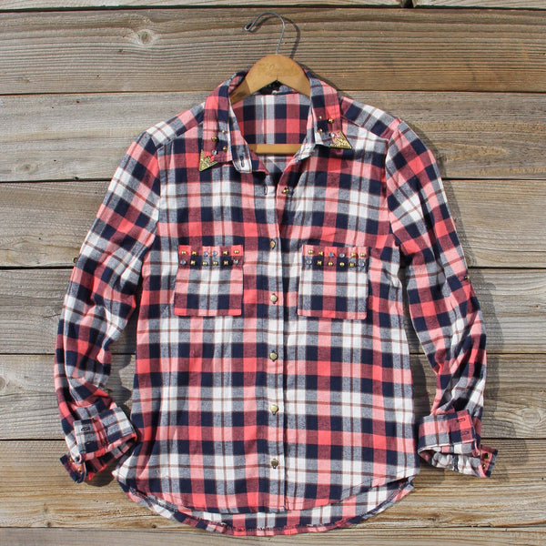 Cozy Cabin Plaid Blouse: Featured Product Image