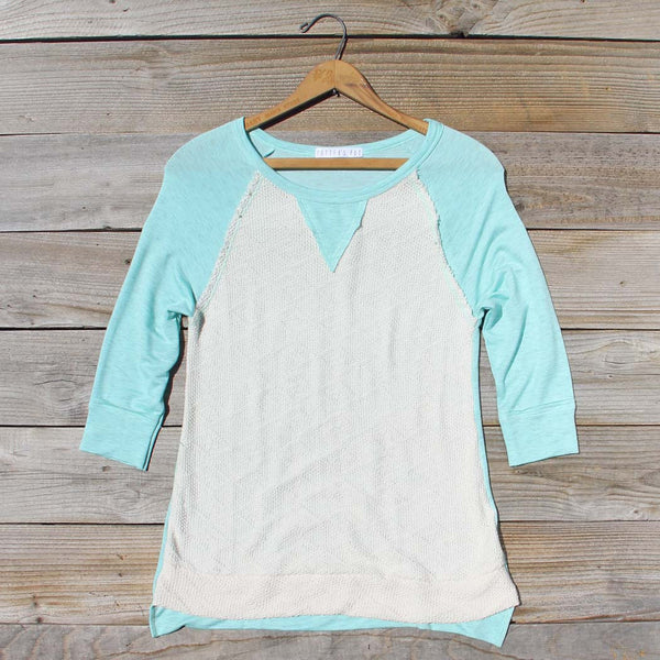 Cozy Camp Tee in Mint: Featured Product Image