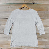 Cozy Camp Tee in Gray: Alternate View #4