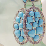 Crystallized Turquoise Earrings: Alternate View #2