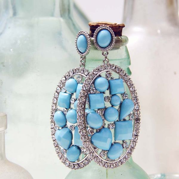 Crystallized Turquoise Earrings: Featured Product Image
