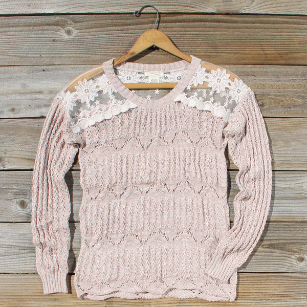 Cumulus Lace Sweater: Featured Product Image