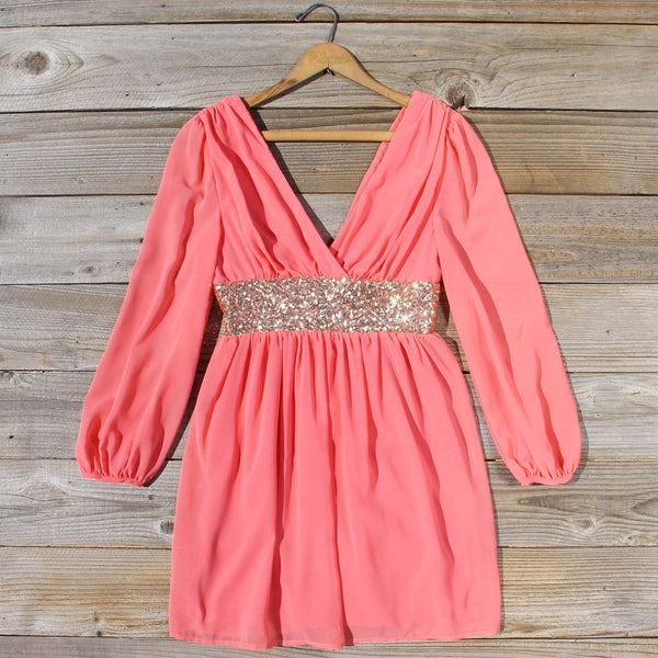 December Snow Dress in Coral: Featured Product Image