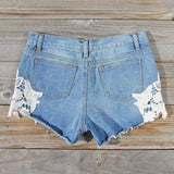 Denim & Lace Shorts: Alternate View #3