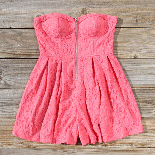 Desert Coral Lace Romper: Featured Product Image