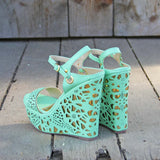 Dream Catcher Wedges in Mint: Alternate View #3