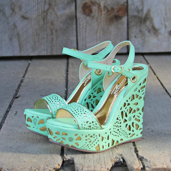Dream Catcher Wedges in Mint: Featured Product Image