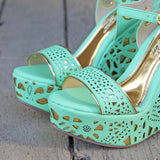 Dream Catcher Wedges in Mint: Alternate View #2