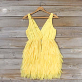 Drizzling Mist Dress in Lemon: Alternate View #4