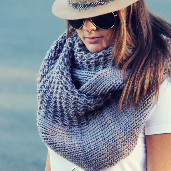 The Fable Knit Scarf in Taupe: Featured Product Image