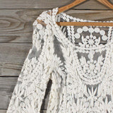 Laced in Snow Blouse (wholesale): Alternate View #2