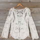 Laced in Snow Blouse (wholesale): Alternate View #3