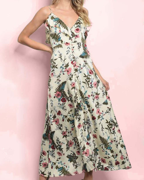 Fern & Poppy Maxi Dress: Featured Product Image