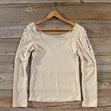 Fireside Lace Tee in Toasted Marshmallow: Alternate View #4