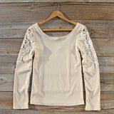 Fireside Lace Tee in Toasted Marshmallow: Alternate View #1