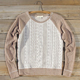 Fireside Nights Lace Sweatshirt: Alternate View #1
