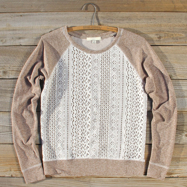 Fireside Nights Lace Sweatshirt: Featured Product Image