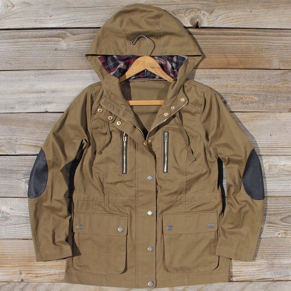 Forest Shadow Elbow Patch Coat: Featured Product Image
