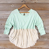 Gentry Lace Tunic in Mint: Alternate View #1
