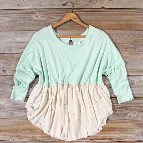 Gentry Lace Tunic in Mint: Featured Product Image