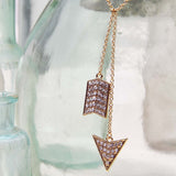 Glittering Arrow Necklace: Alternate View #2