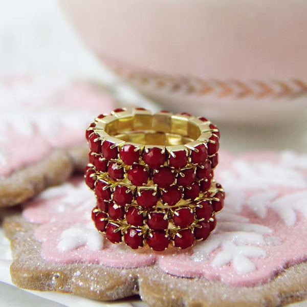 Glittering Stacks Ring in Red: Featured Product Image