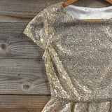 Gold Dust Peplum Blouse: Alternate View #2