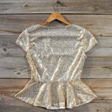 Gold Dust Peplum Blouse: Alternate View #4