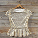 Gold Dust Peplum Blouse: Alternate View #1