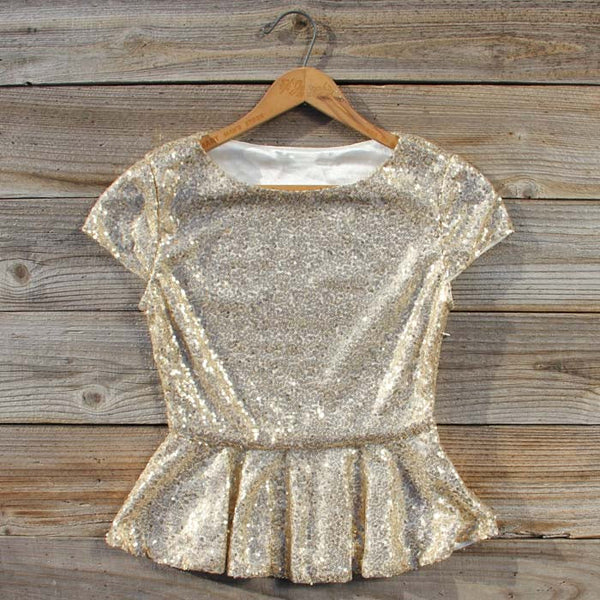 Gold Dust Peplum Blouse: Featured Product Image