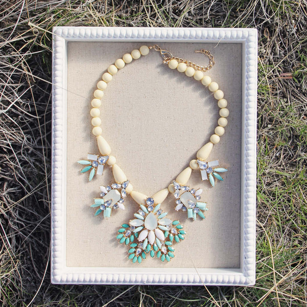 Hive & Honey Necklace in Turquoise: Featured Product Image