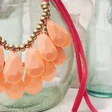 Honeydew Necklace in Peach: Alternate View #2