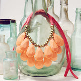 Honeydew Necklace in Peach: Alternate View #1